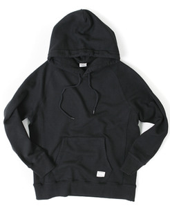 HOODED SWEAT SHIRT [BLACK]