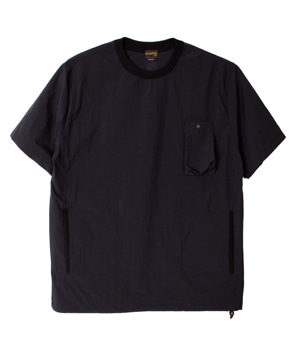 NYLON POCKET SHIRT [BLACK]
