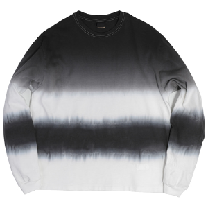 STRIPE TIE-DYE LONG SLEEVE [CHARCOAL]
