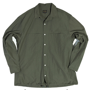 NYLON 2POCKET STRING SHIRT [OLIVE GREEN]