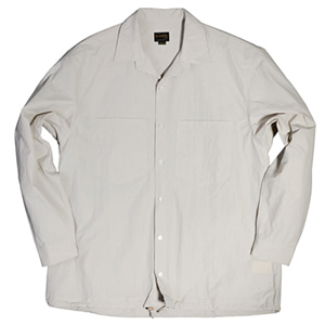 NYLON 2POCKET STRING SHIRT [BEIGE]