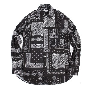 19FW PAISELY SHIRT [BLACK]