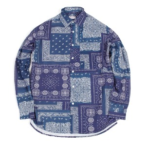 19FW PAISELY SHIRT [NAVY]