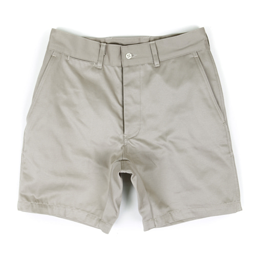 MILITARY OFFICER CHINO SHORT PANTS[IVORY]