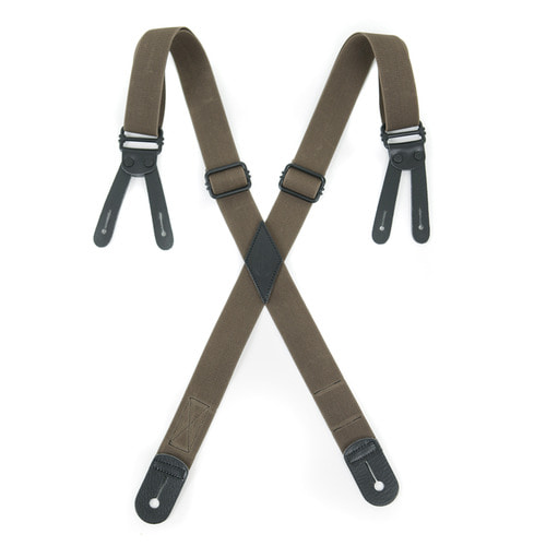 OUTSTANDING BUTTON TAB SUSPENDER[BROWN]