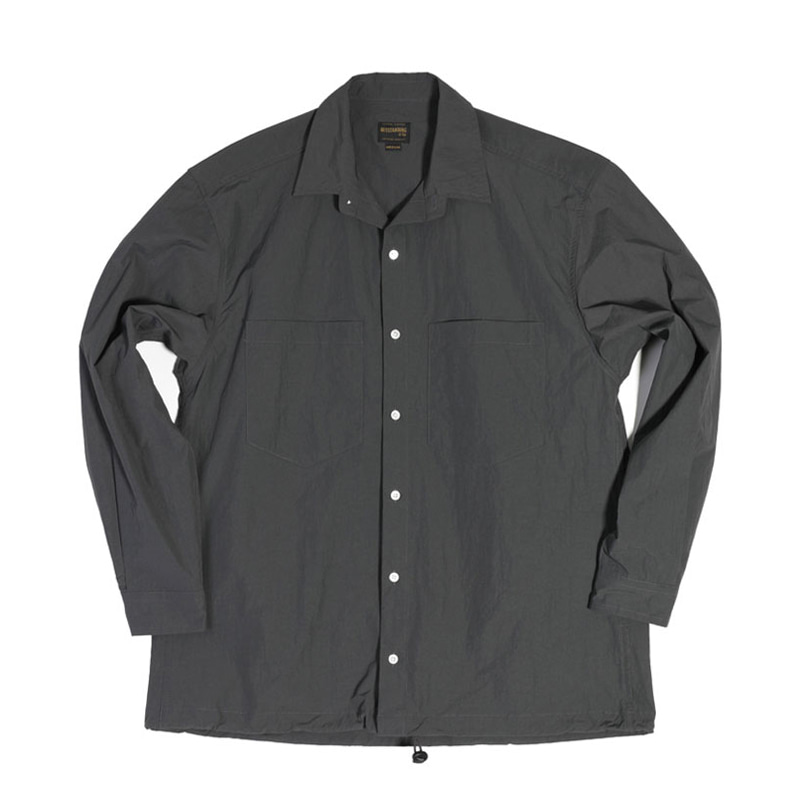 NYLON 2POCKET STRING SHIRT [CHARCOAL]