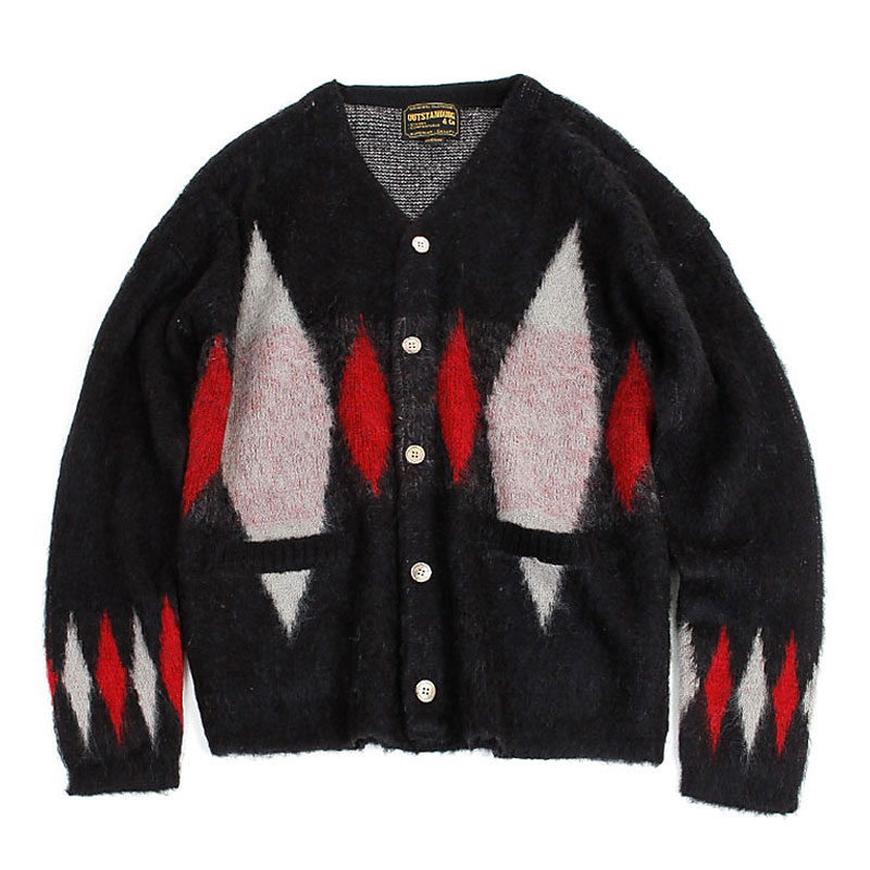 19FW MOHAIR CARDIGAN-DIAMOND [BLACK]