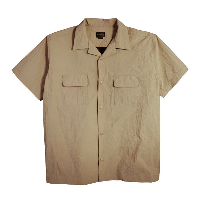 NYLON 2POCKET SHIRT [BEIGE]