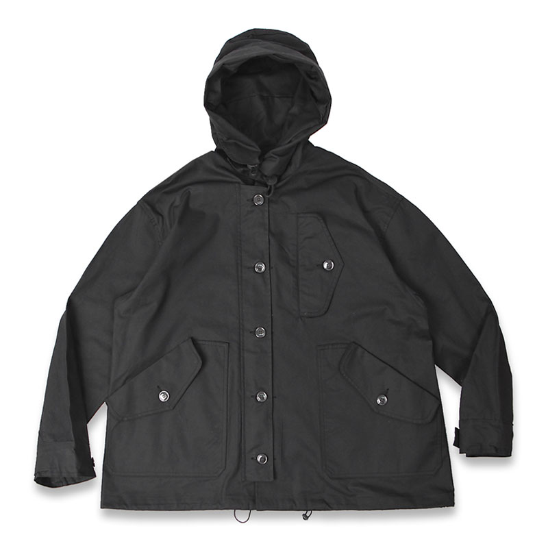 R.A.F HOODED SHORT PARKA[BLACK]