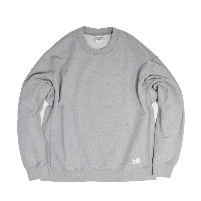 REVERSE SWEAT [8% MELANGE GRAY]