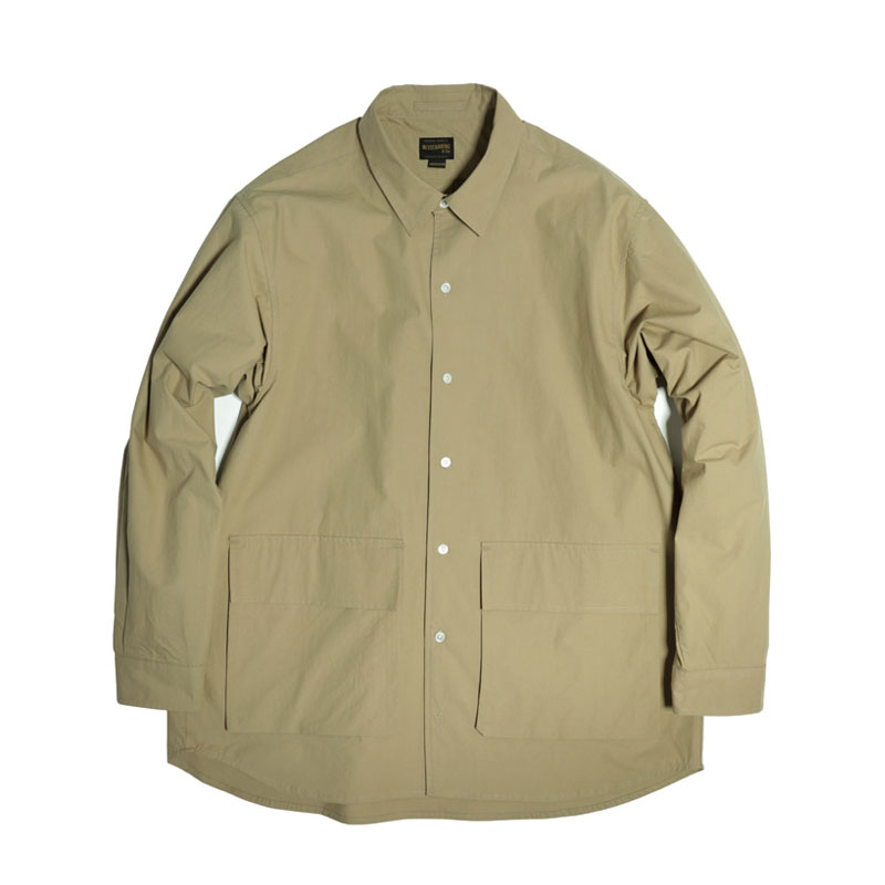 COMFORT FIT 2POCKET SHIRT [BEIGE]