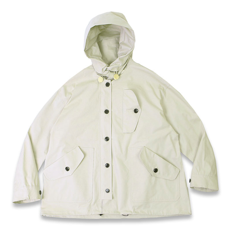 R.A.F HOODED SHORT PARKA[IVORY]