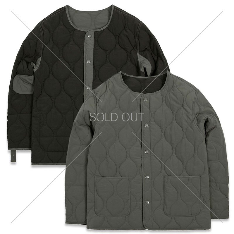 REVERSIBLE QUILTING JACKET [CHARCOAL/BLACK]