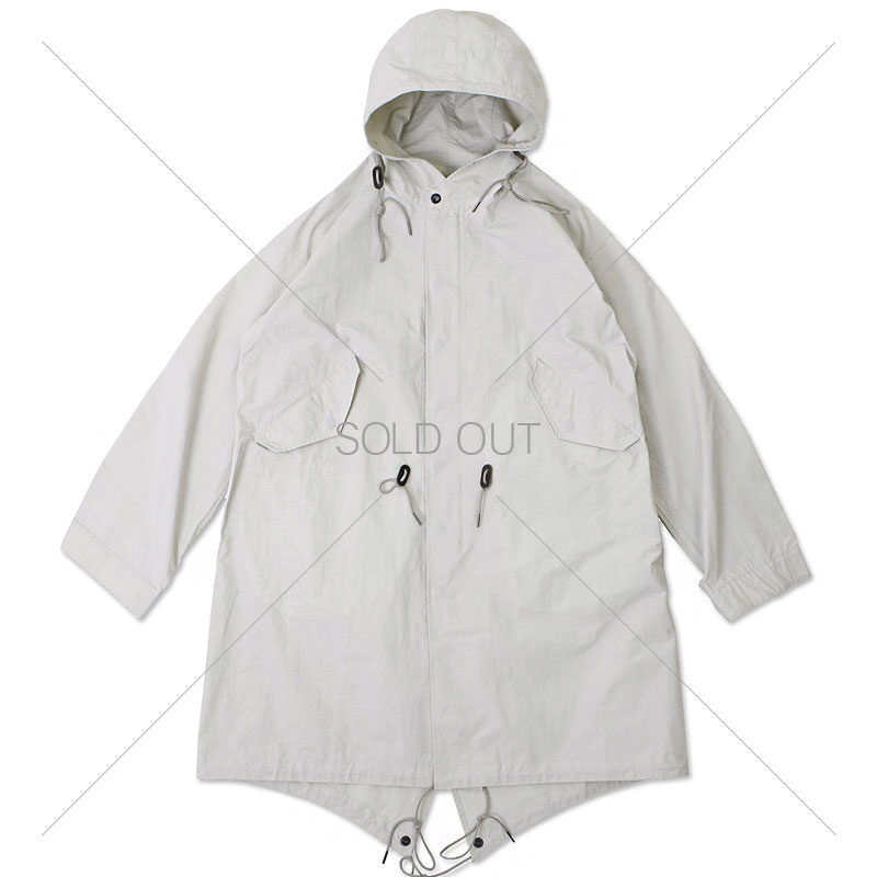 20S/S HOODED NYLON PARKA [LIGHT GRAY] 아웃스탠딩 컴퍼니20S/S HOODED NYLON PARKA [LIGHT GRAY]