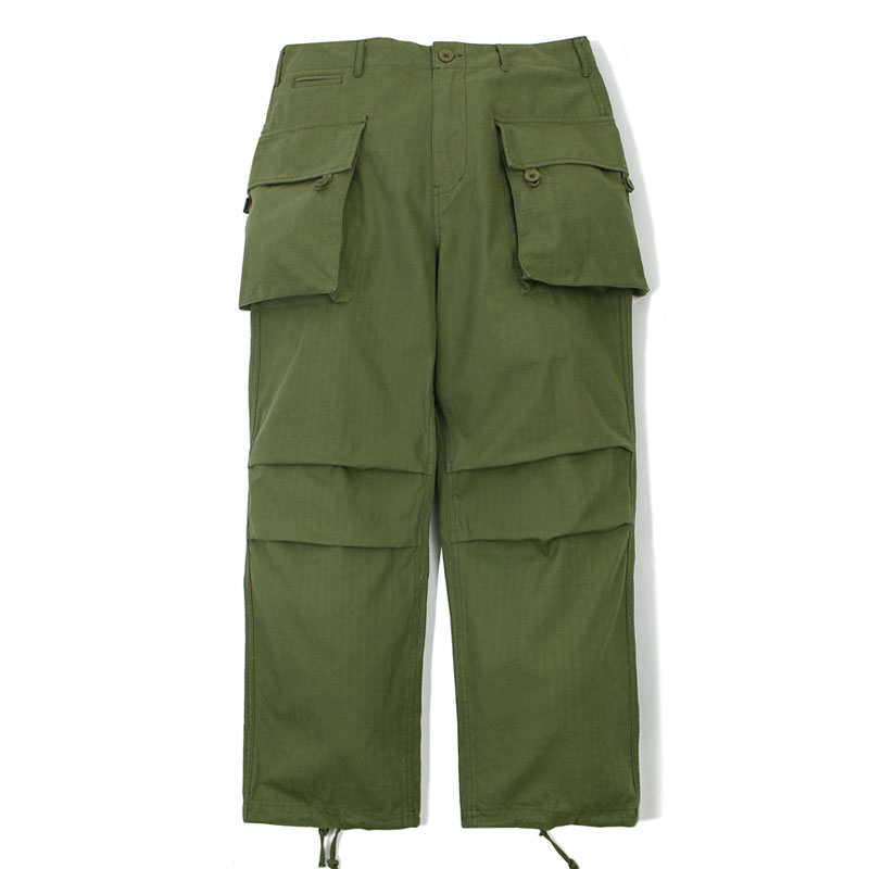 MIL MOTO COTTON PANTS_OLIVE GREEN 아웃스탠딩 컴퍼니MIL MOTO COTTON PANTS_OLIVE GREEN