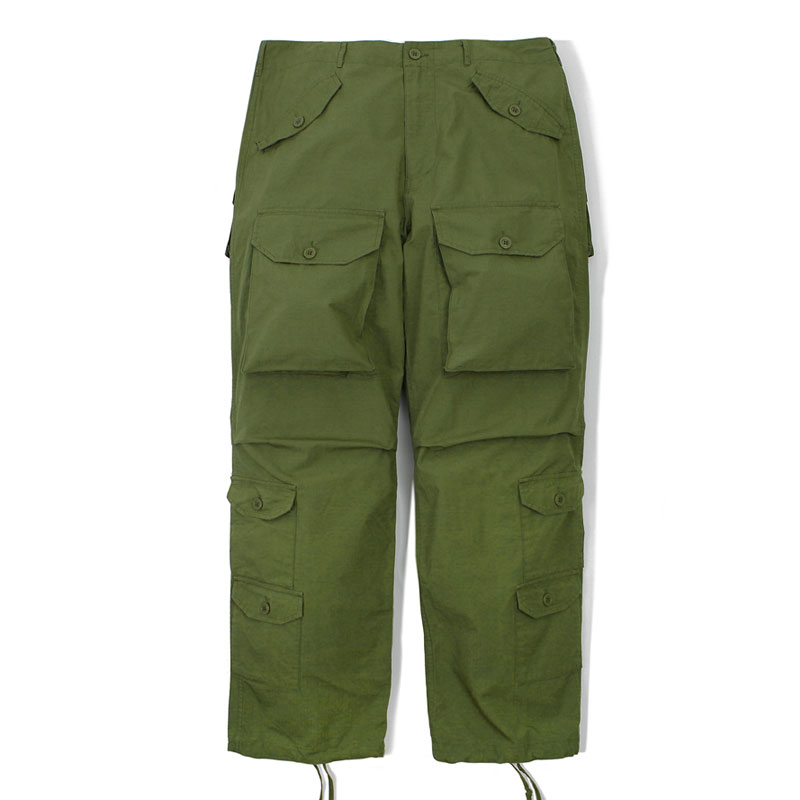 MIL RIP COTTON PANTS_OLIVE GREEN 아웃스탠딩 컴퍼니MIL RIP COTTON PANTS_OLIVE GREEN