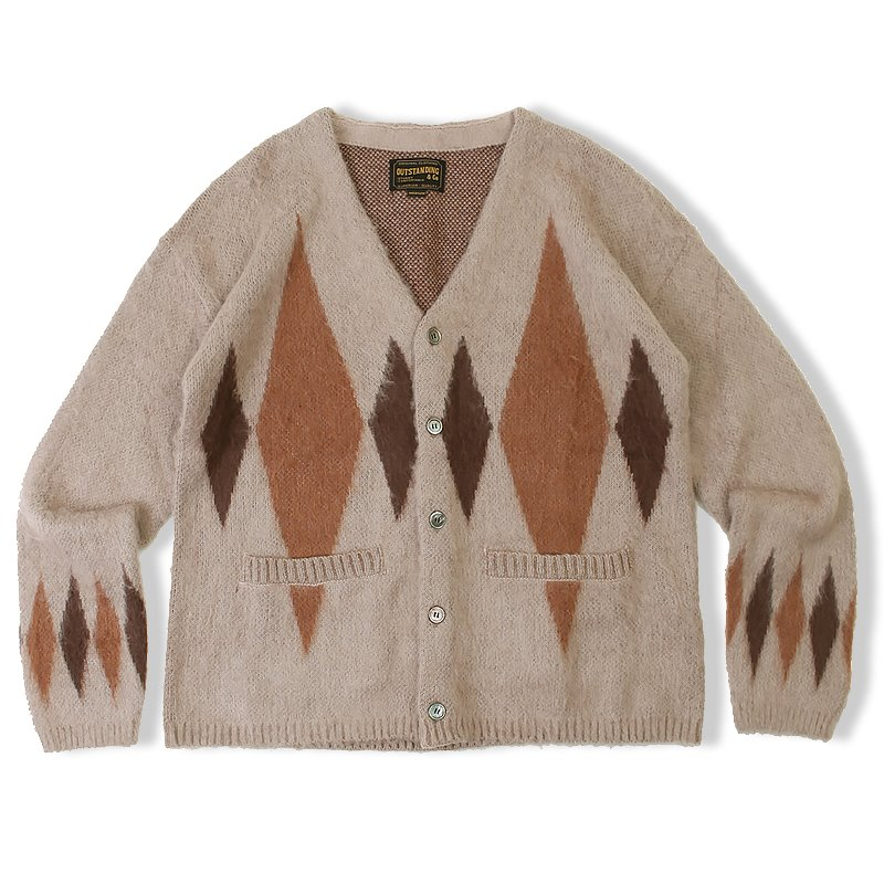 20F/W MOHAIR DIAMOND CARDIGAN_BROWN
