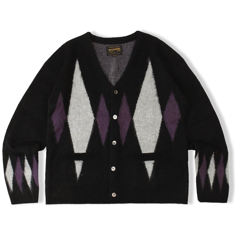 20F/W MOHAIR DIAMOND CARDIGAN_BLACK