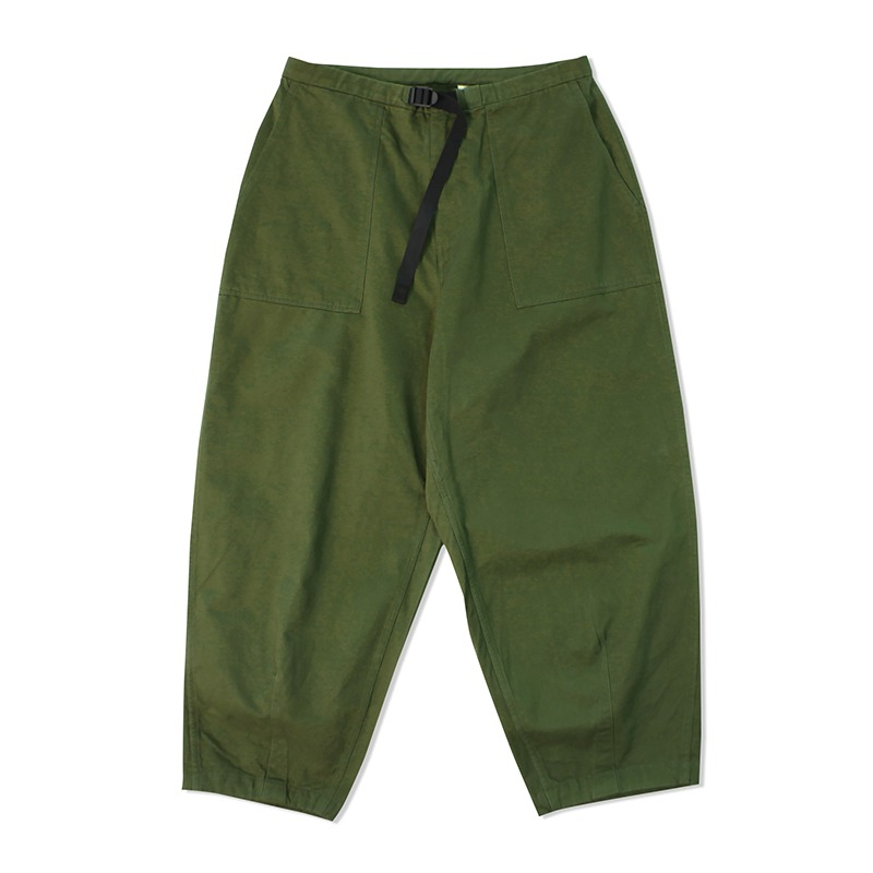 WIDE CROPPED PANTS_OLIVE GREEN