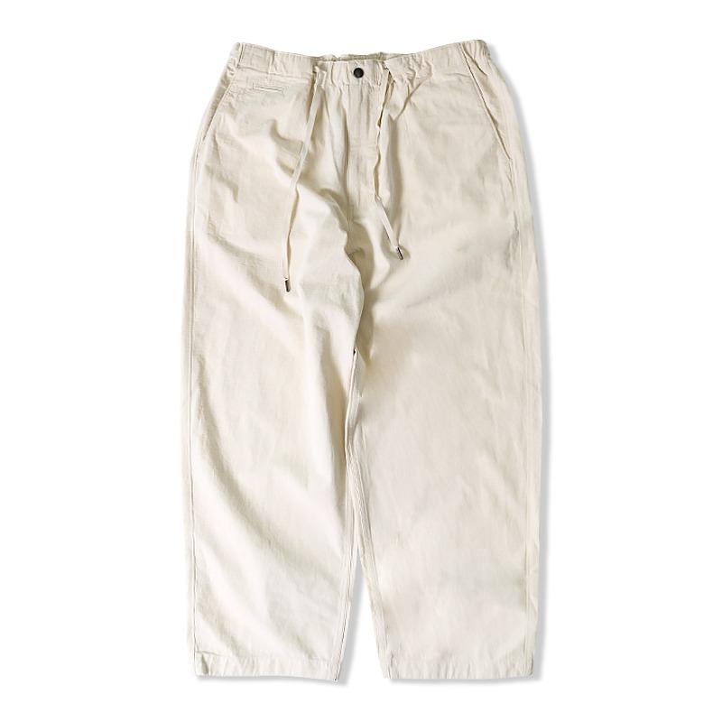 21S/S RIP STRING PANTS_IVORY